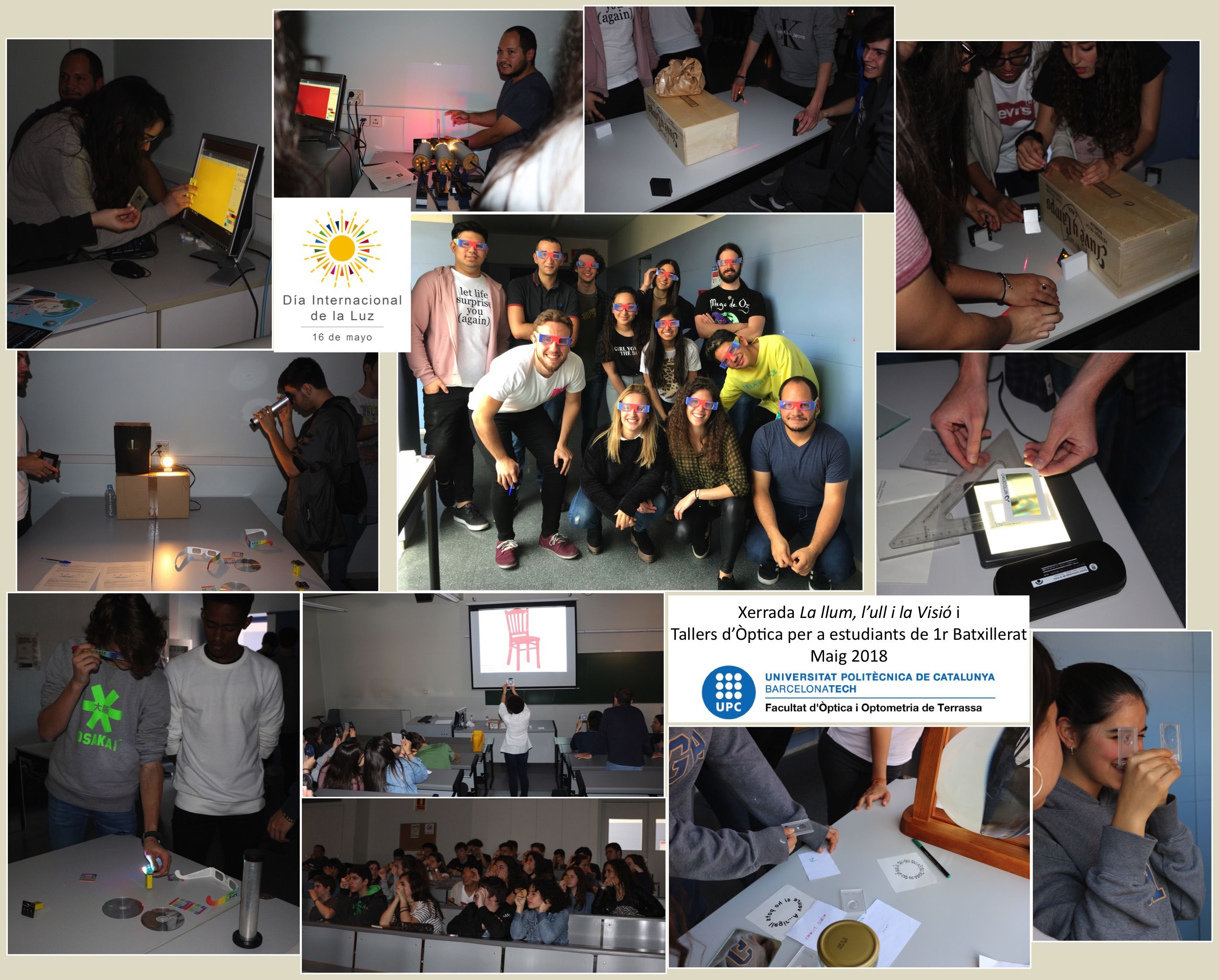 Collage Dia Internacional de la Llum