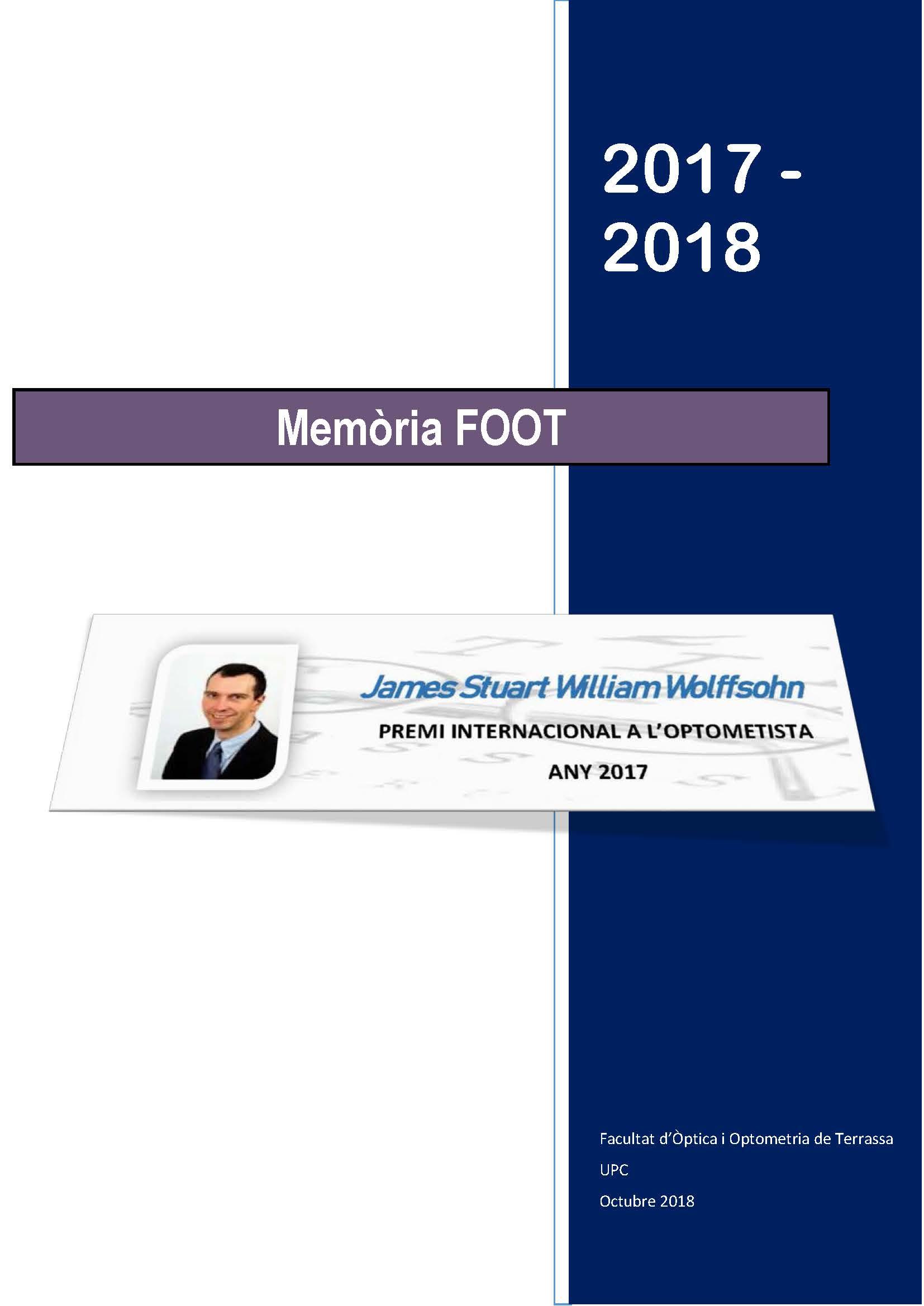 Portada memòria 2017-2018